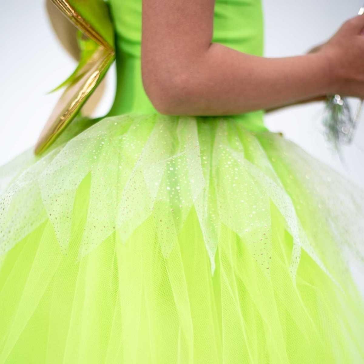 Fantasia Fada Verde Infantil
