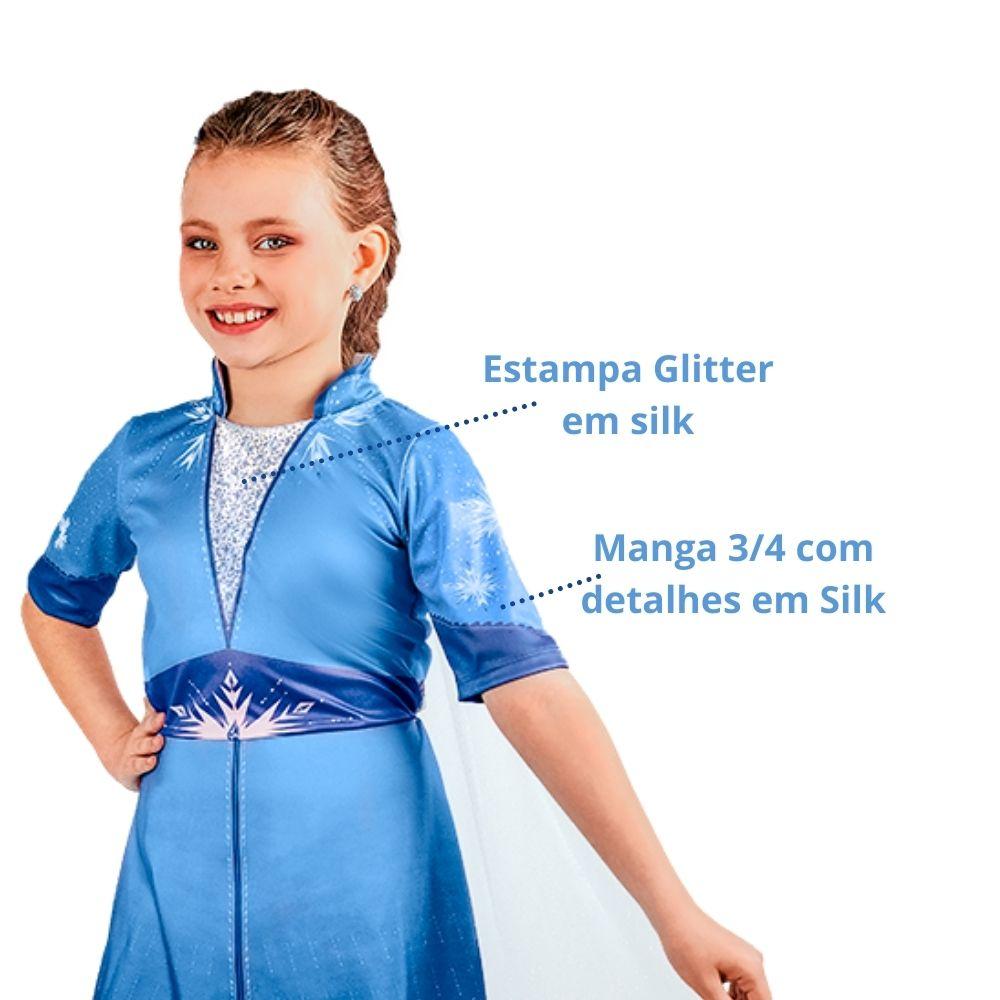 Fantasia Frozen 2 Pop Elsa Infantil (RG)