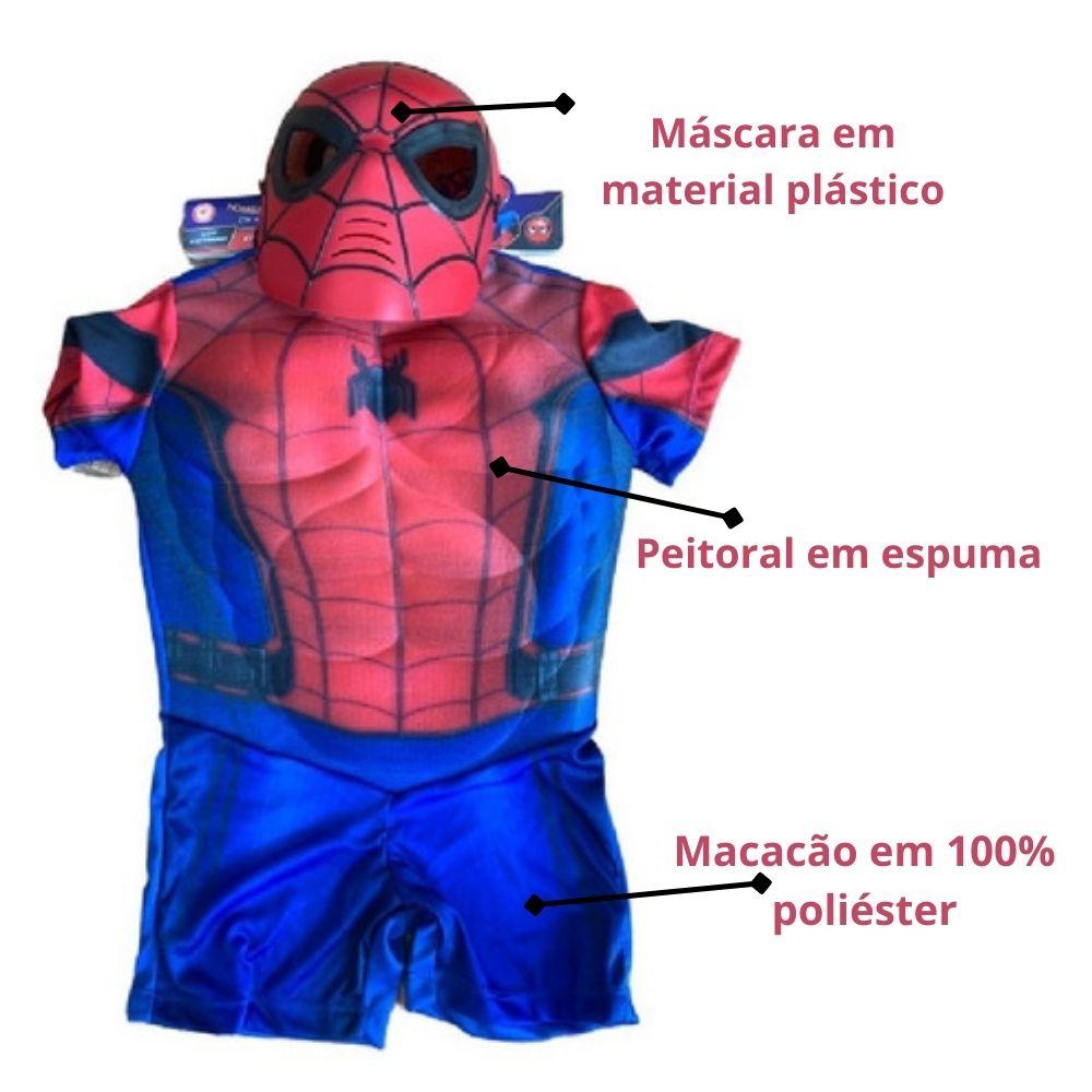 Fantasia Homem Aranha Curta Clássica (RG)