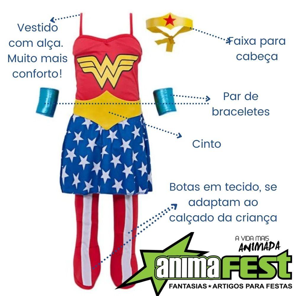 Fantasia Mulher Maravilha Infantil Std (SL)