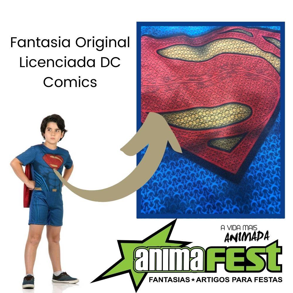 Fantasia Super Homem Infantil Curta Batman X Super (SL)