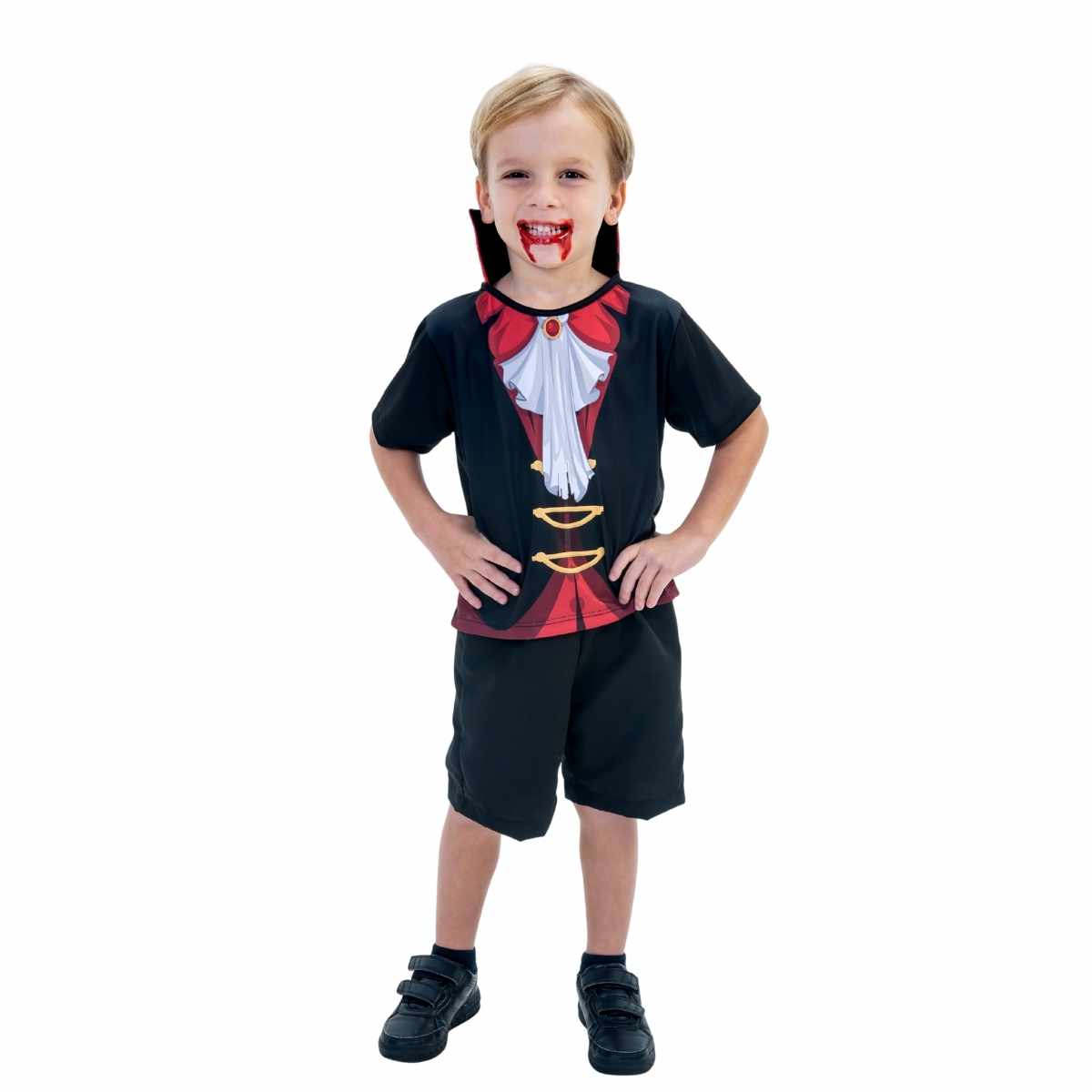 Fantasia Vampiro Infantil Curto