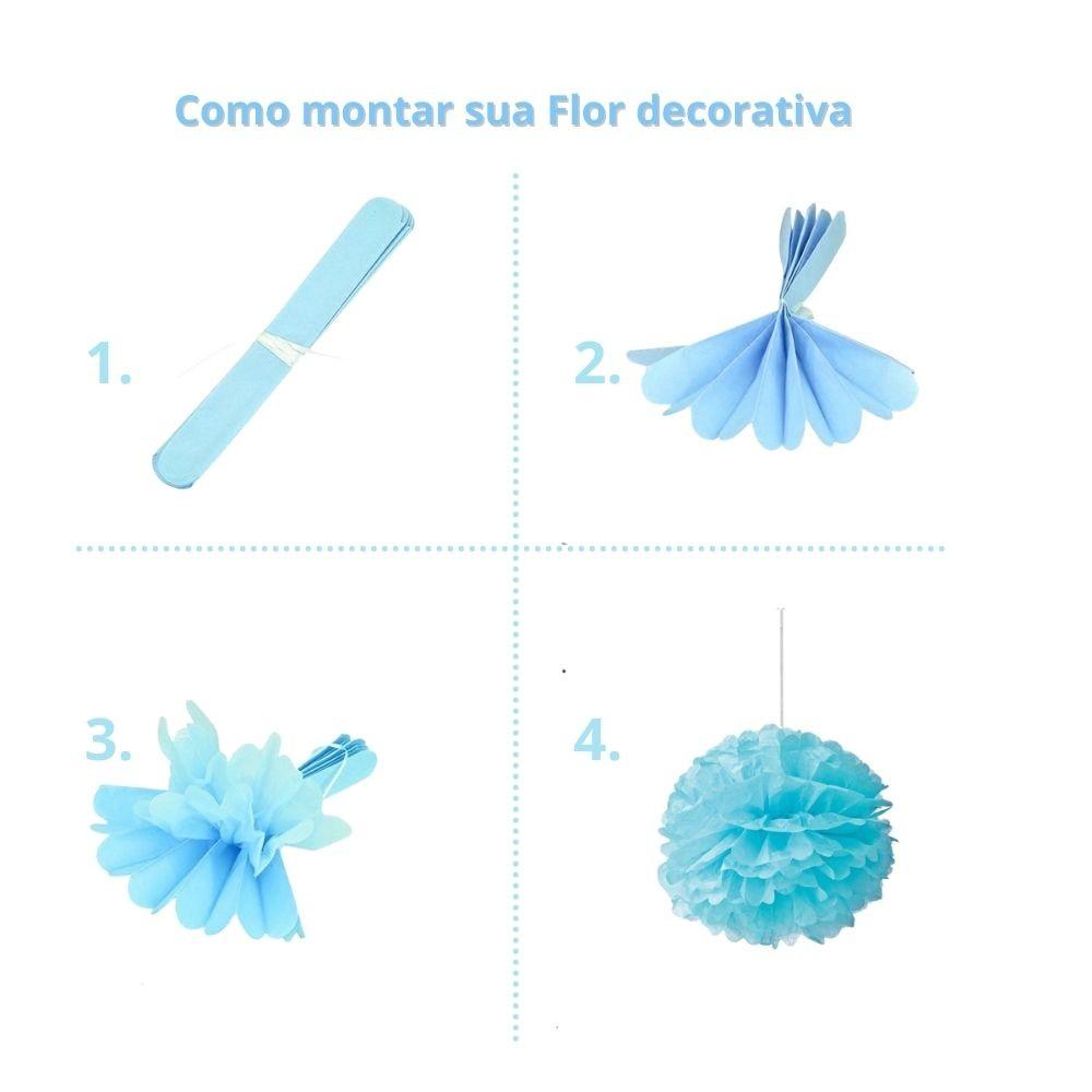 Flores Decorativas Seda Azul c/2 unid