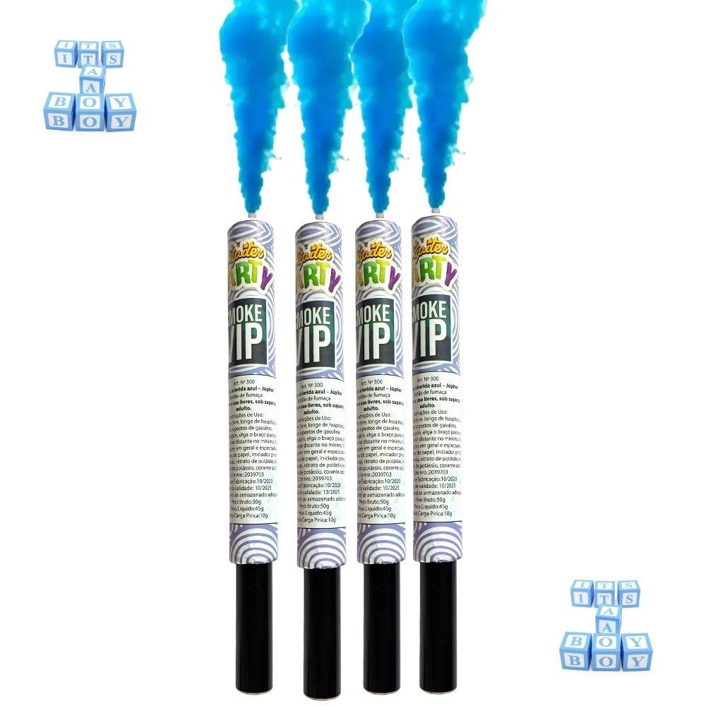 Fumaça Azul para Chá de Revelação c/4