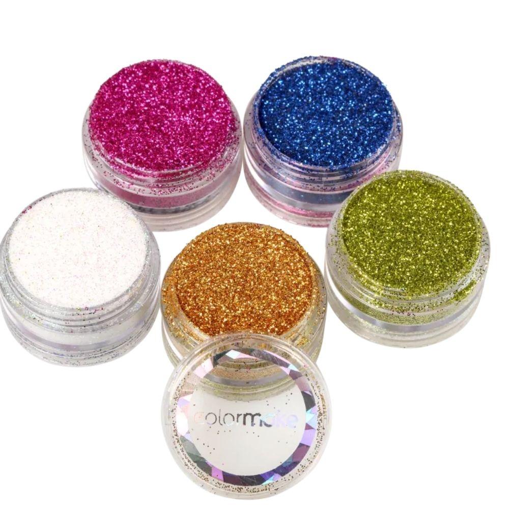 Glitter em pó 5 Cores