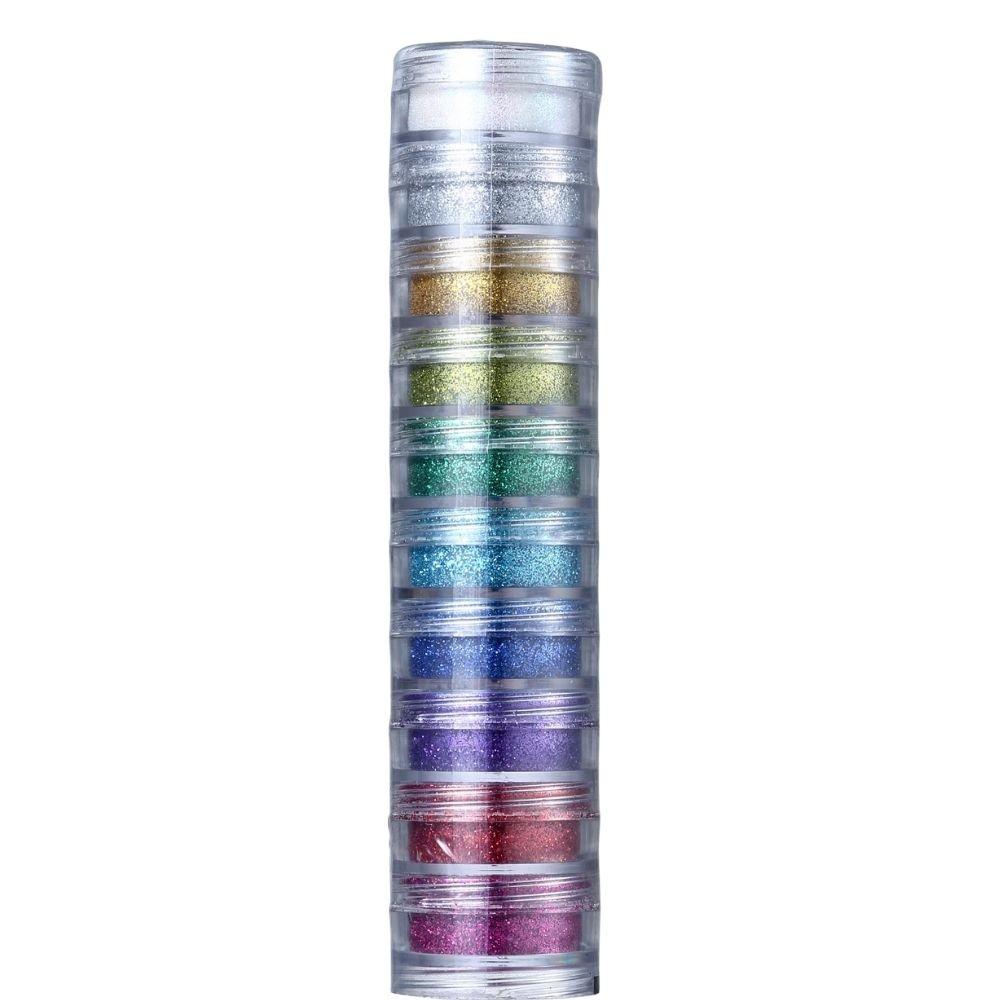 Glitter em Pó com 10 cores