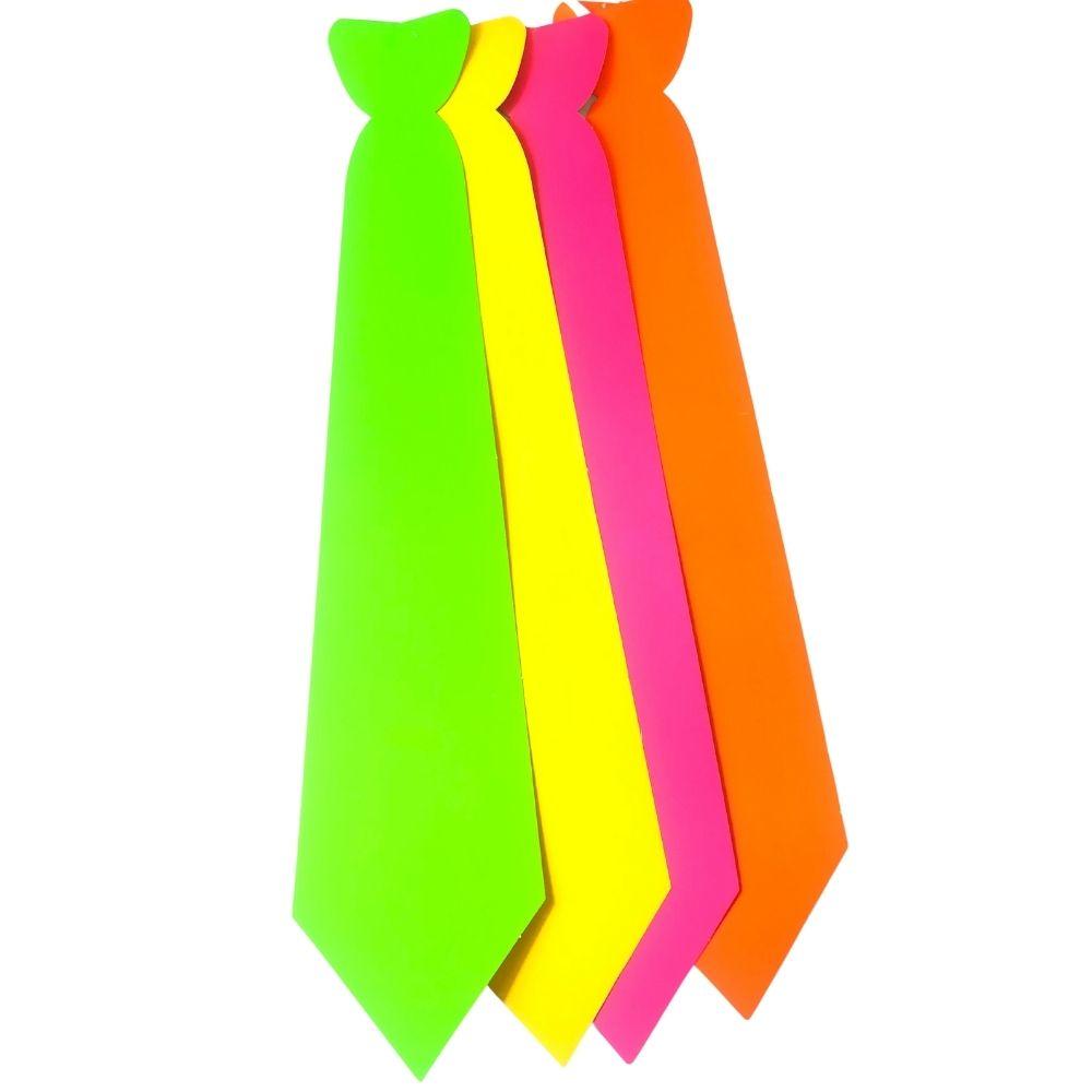 Gravata Cartonagem Lisa Neon com 12