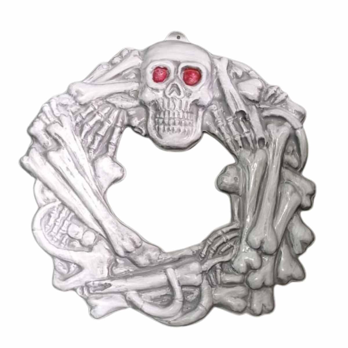 Guirlanda de Halloween Caveira Plástico 35x35cm