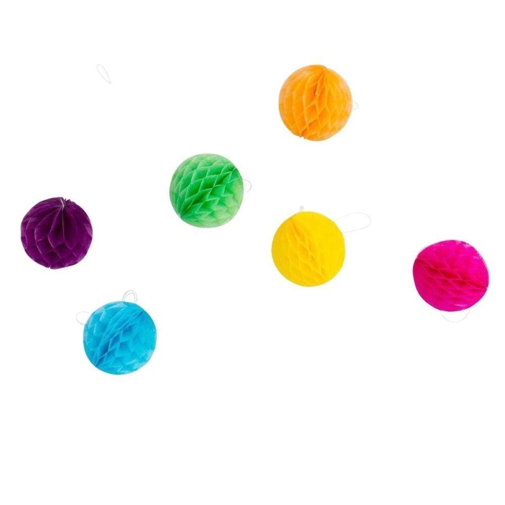 Guirlanda Decorativa Bolas Favo de Abelha Coloridas c/4 metros