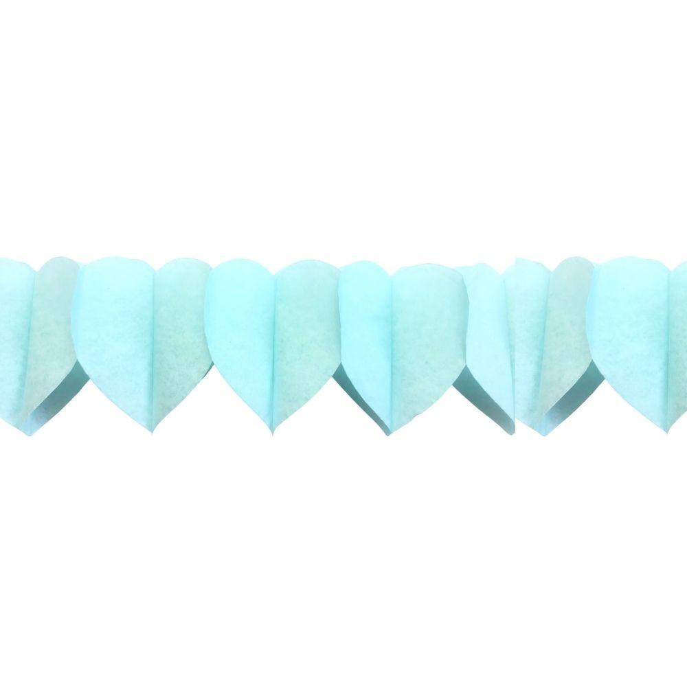 Guirlanda Decorativa Corações Azul c/6 unid