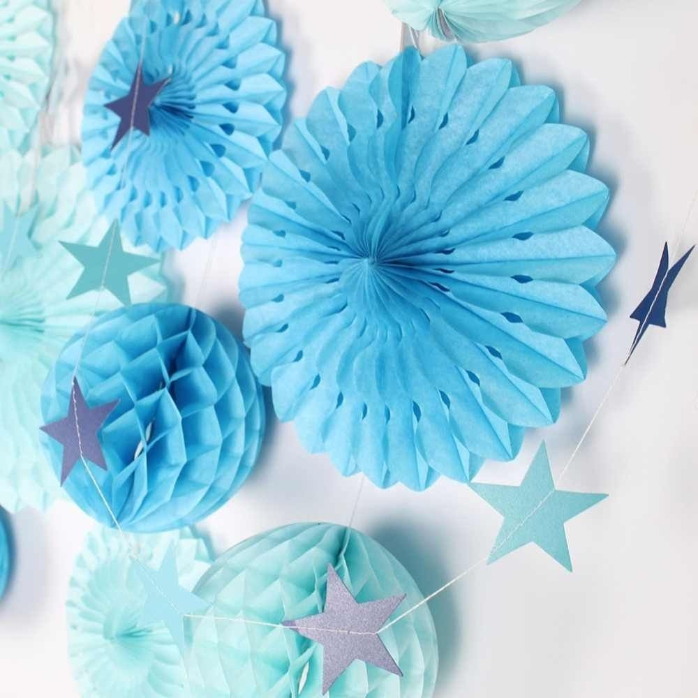 Guirlanda Decorativa Estrela Azul c/2 unid