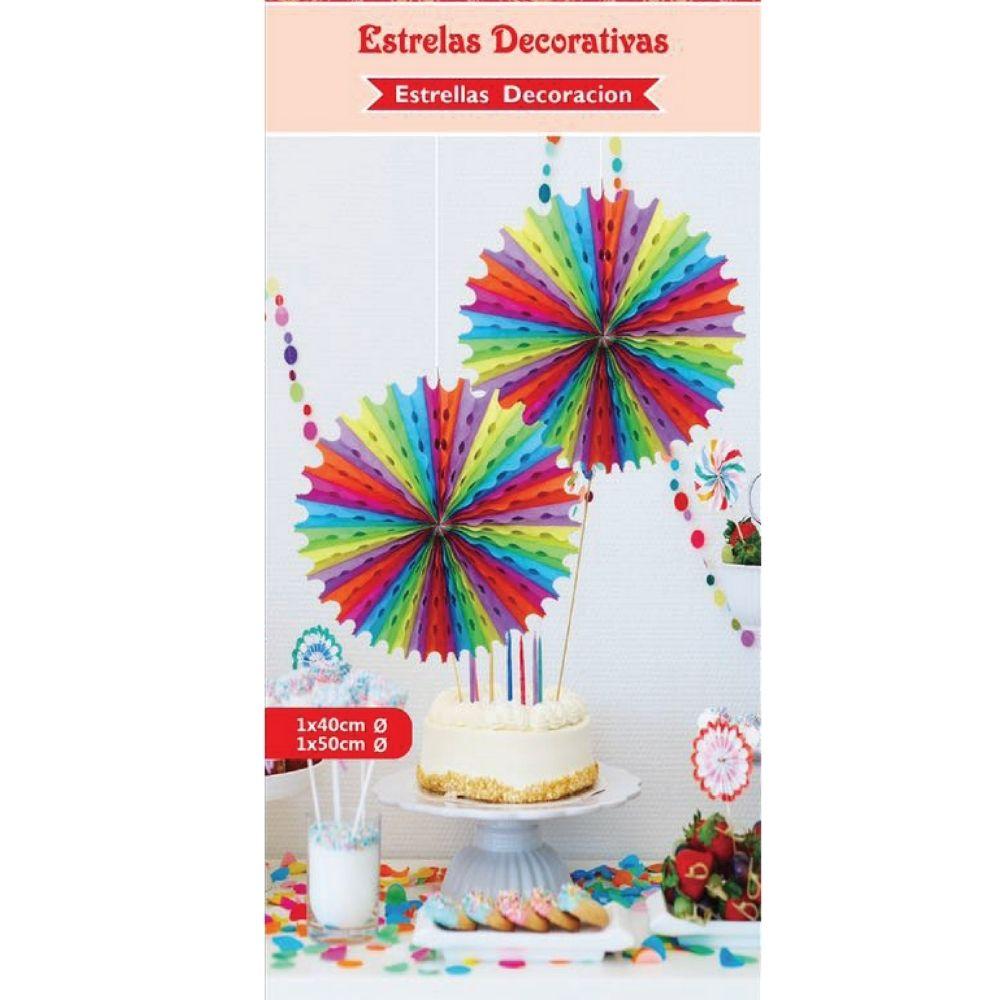 Guirlanda Decorativa Estrela Colorida c/2 unid
