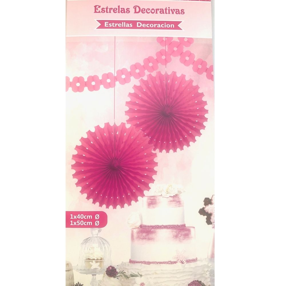 Guirlanda Decorativa Estrelas Magenta c/2 unid