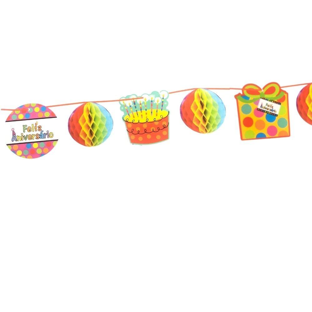 Guirlanda Decorativa Feliz Aniversário c/4 metros
