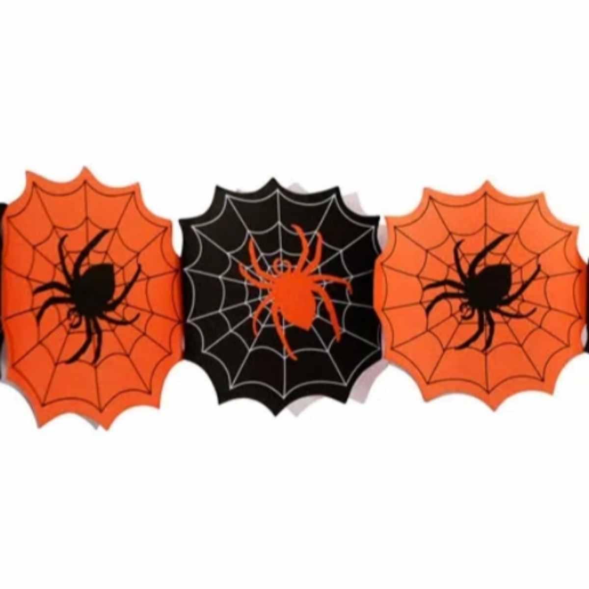 Guirlanda Halloween Aranhas 2.4m