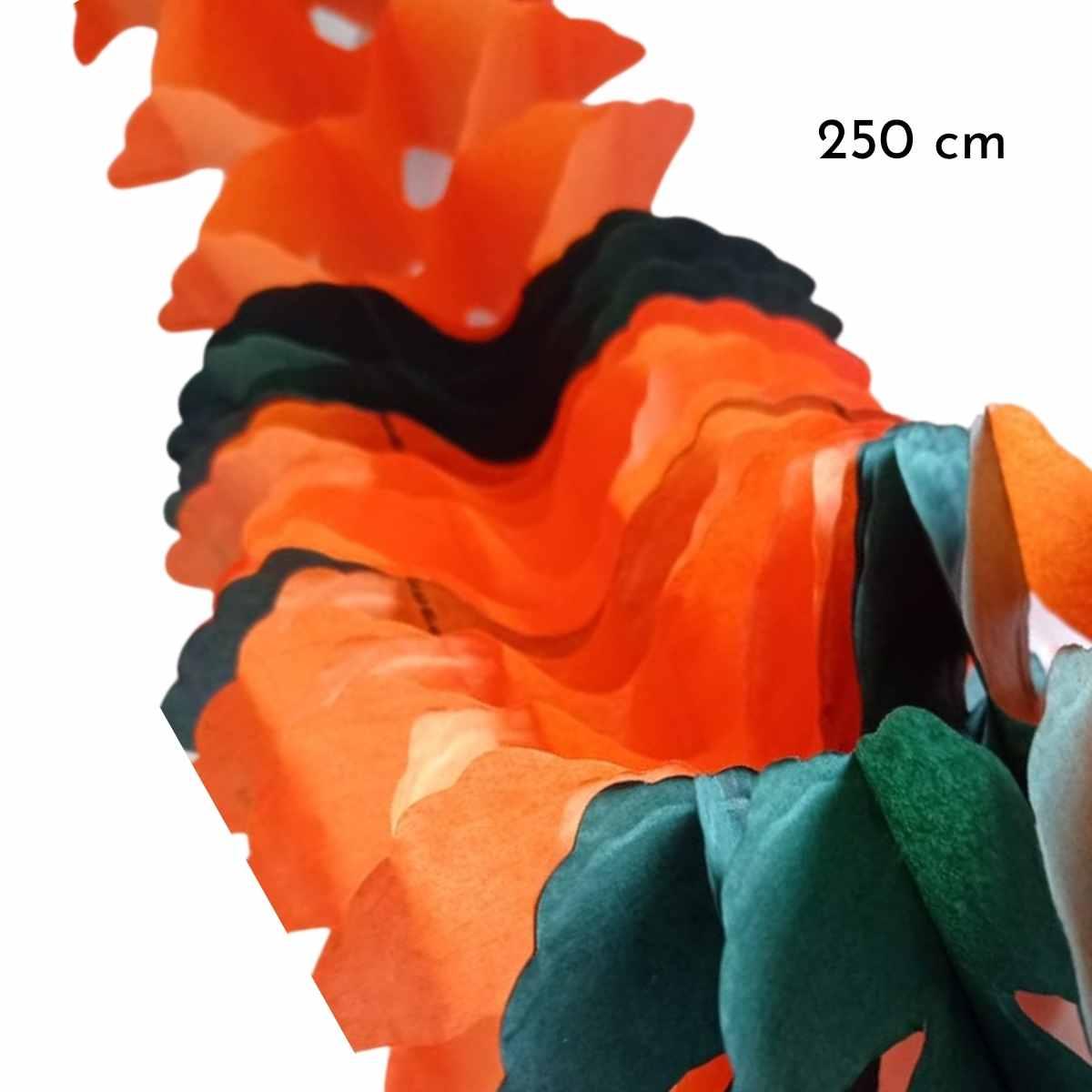 Guirlanda Halloween em formato X 2,50cm