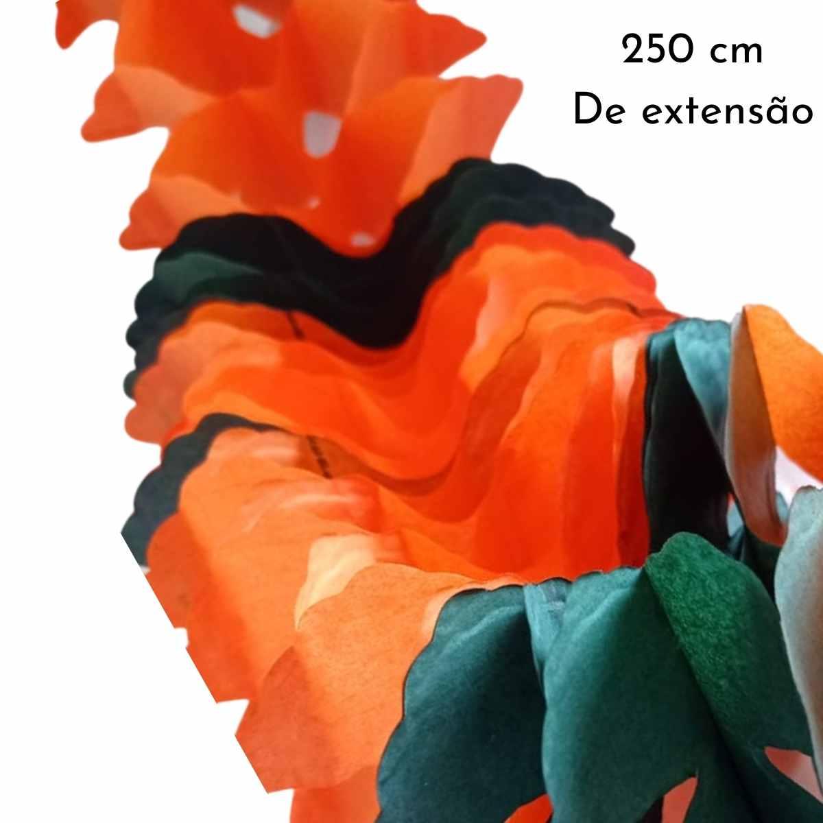 Guirlanda Halloween em formato X 2,50cm Kit c/6