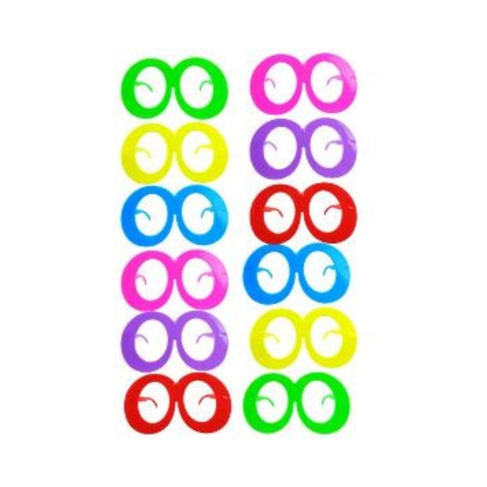 Kit Balada Alto Astral  150 itens (1 Tubo de Neon + 30 Colares Pisca + 20 Óculos)