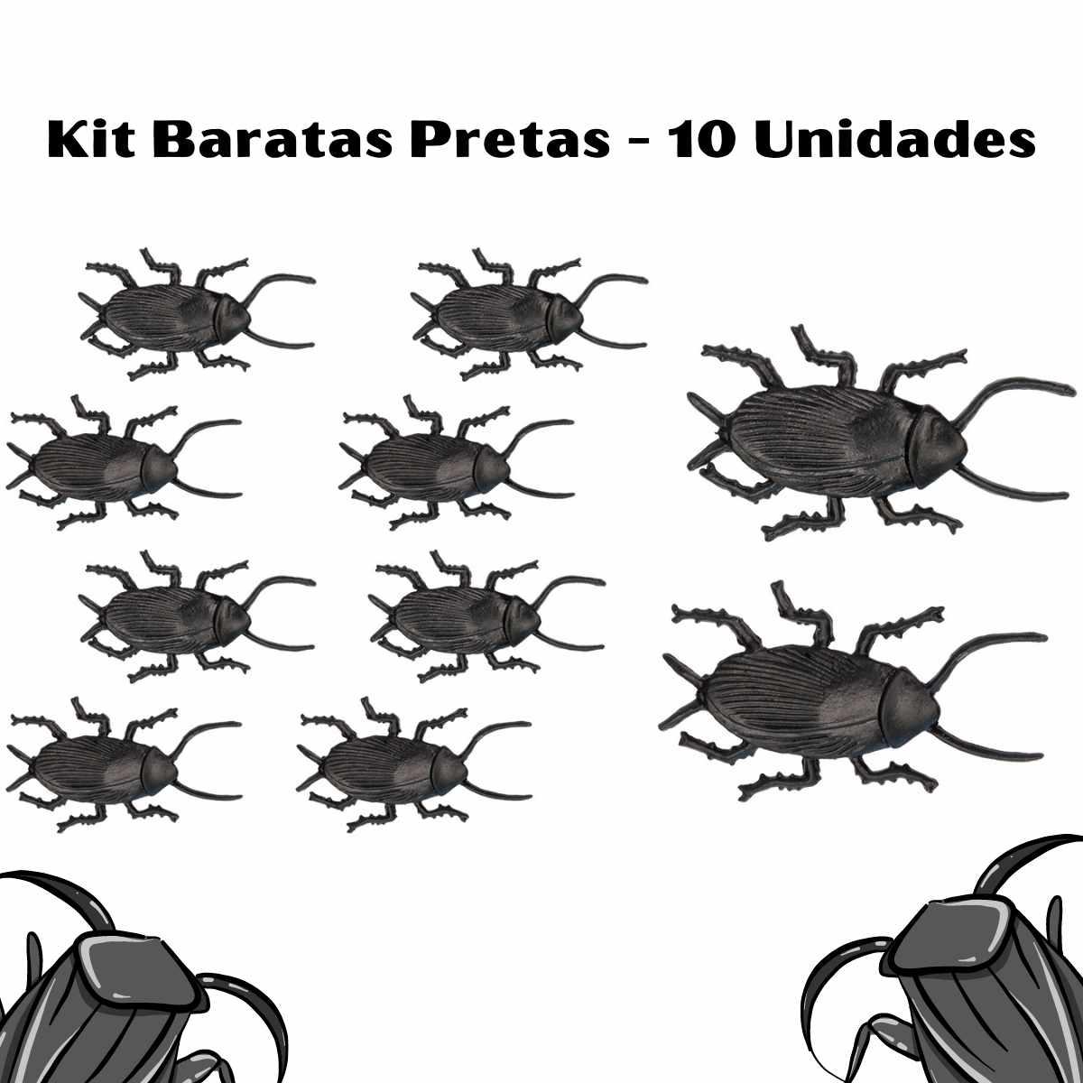 Kit Baratas Pretas com 10