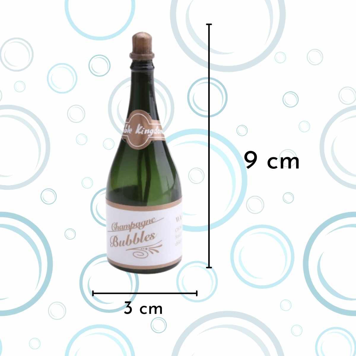 Kit Bolha de Sabão Mini Garrafa Champagne c/10