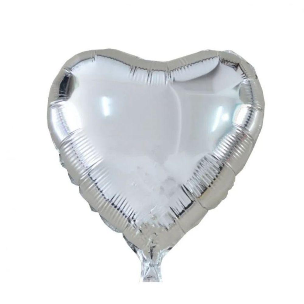 Kit Buquê de Balões Prata c/ 9 peças