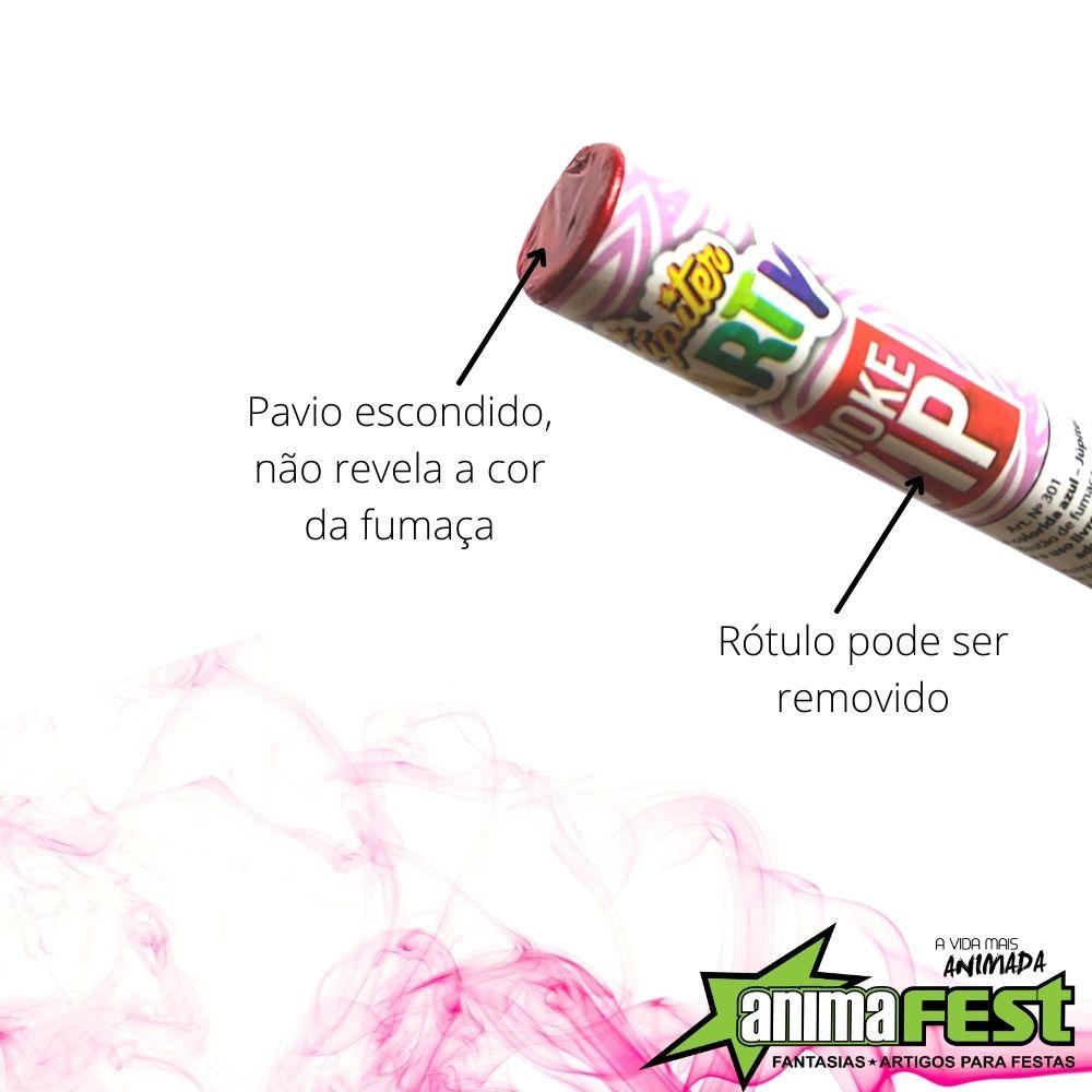 Kit Chá de Revelação Menina 4 Pó Colorido Rosa + 2 Bastão de Fumaça 20mm Rosa