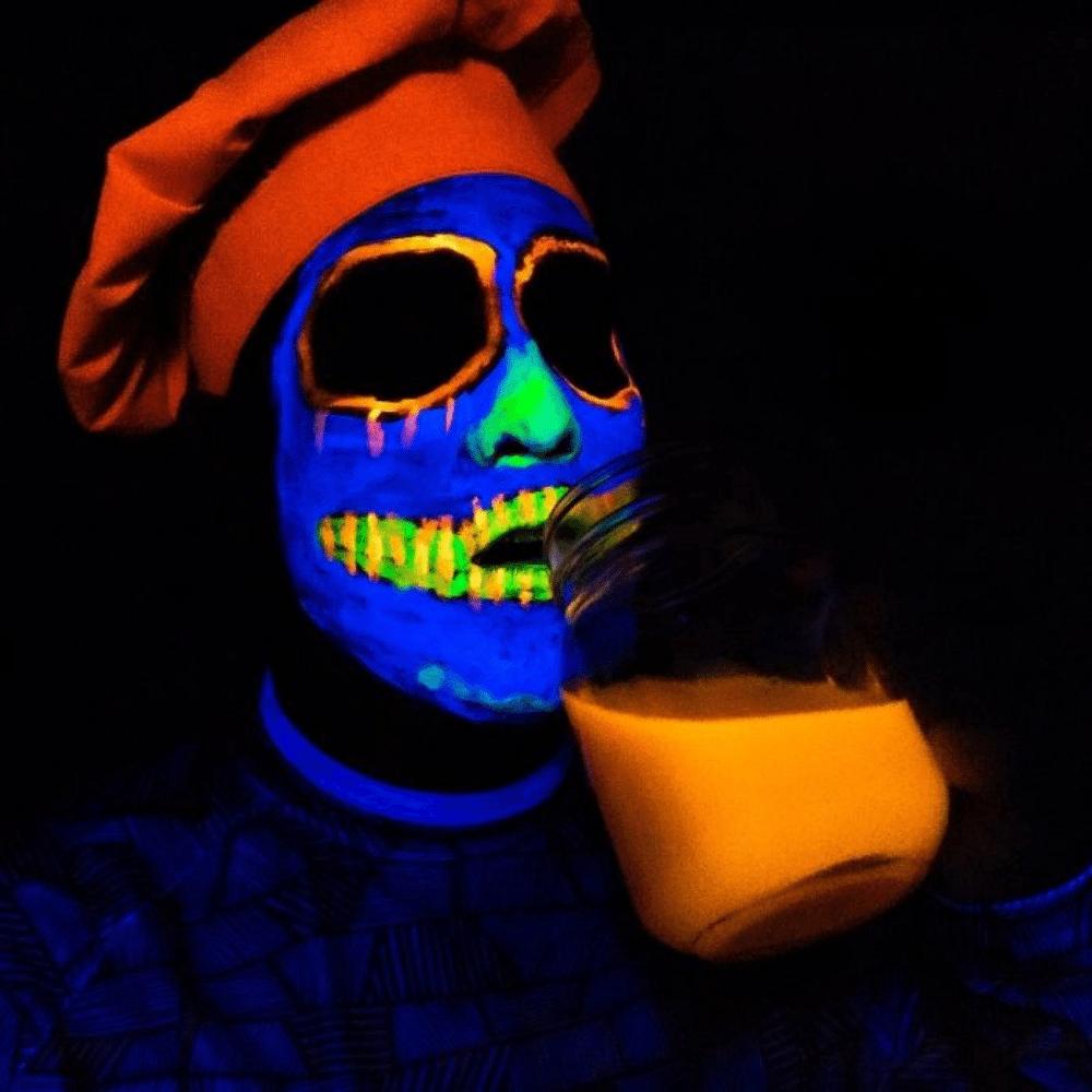 Kit com 5 Clown Liquido 30 ml cada (1 Azul Claro, 1 Preto, 1 Branco, 1 Vermelho e 1 Amarelo)