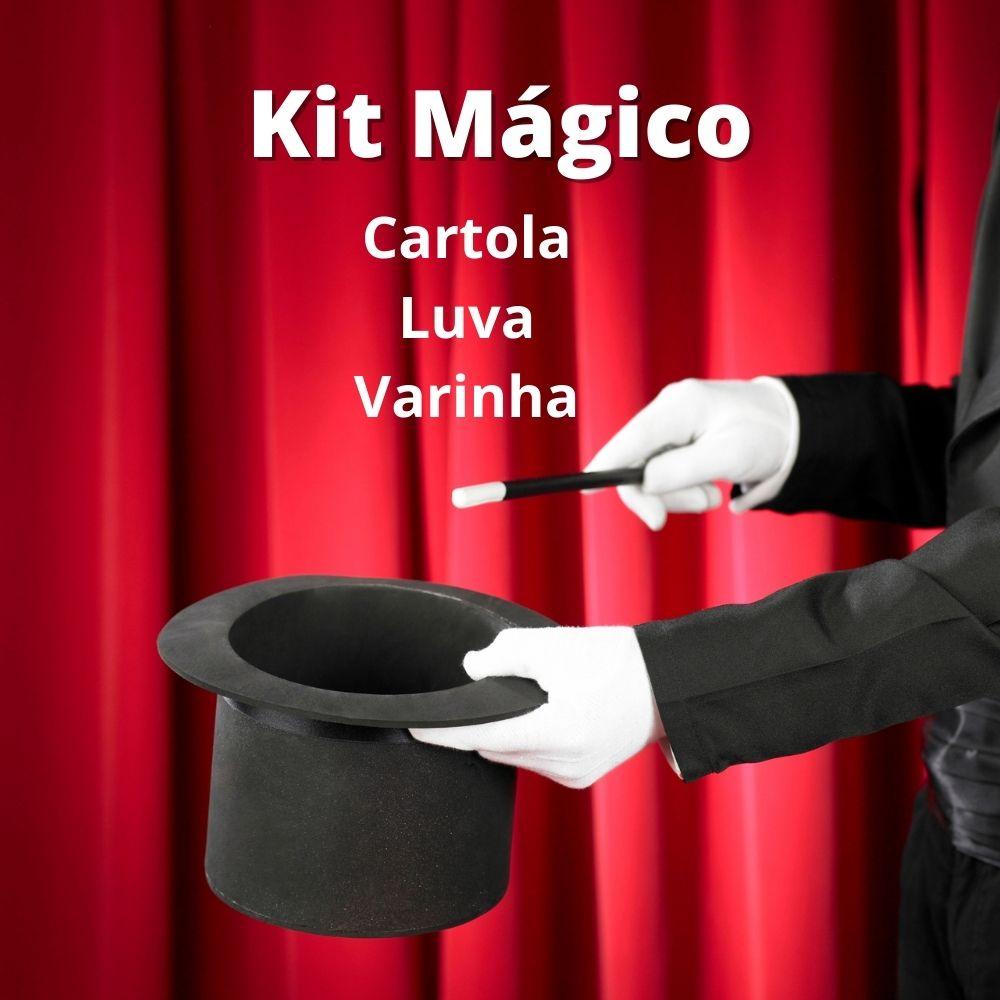 Kit de Mágico (Cartola, Varinha e Luva)