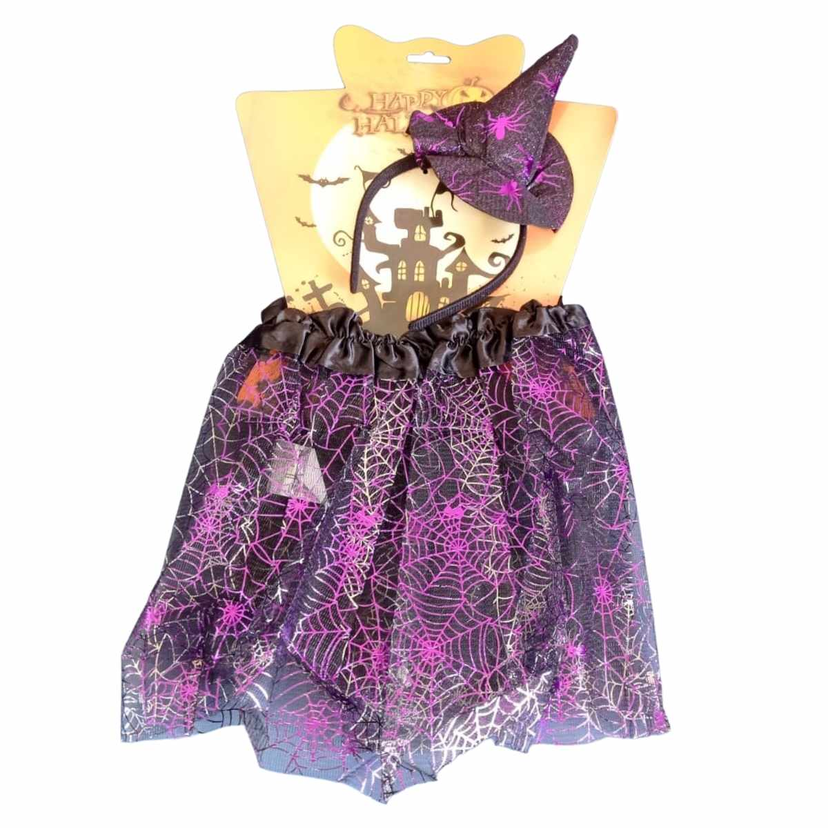 Kit Fantasia Halloween Saia e Tiara