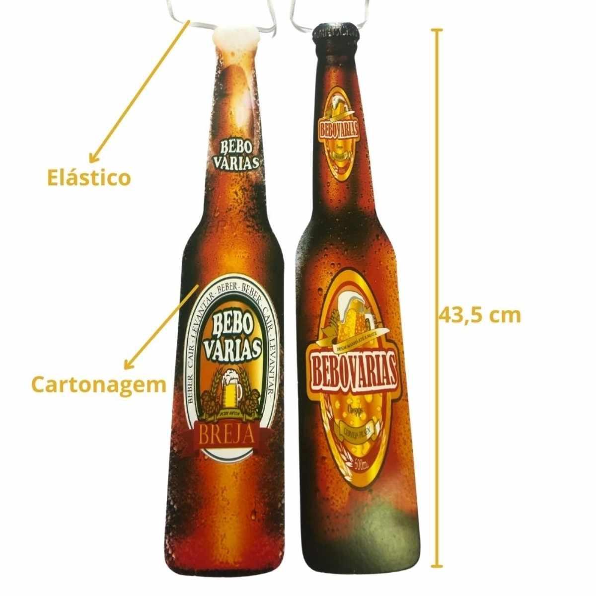 Kit Festa Cerveja (Cartola Chopp + Gravata Bebo Várias + Tiara Bebo Varias + Óculos Chopp + Plaquinha Boteco)