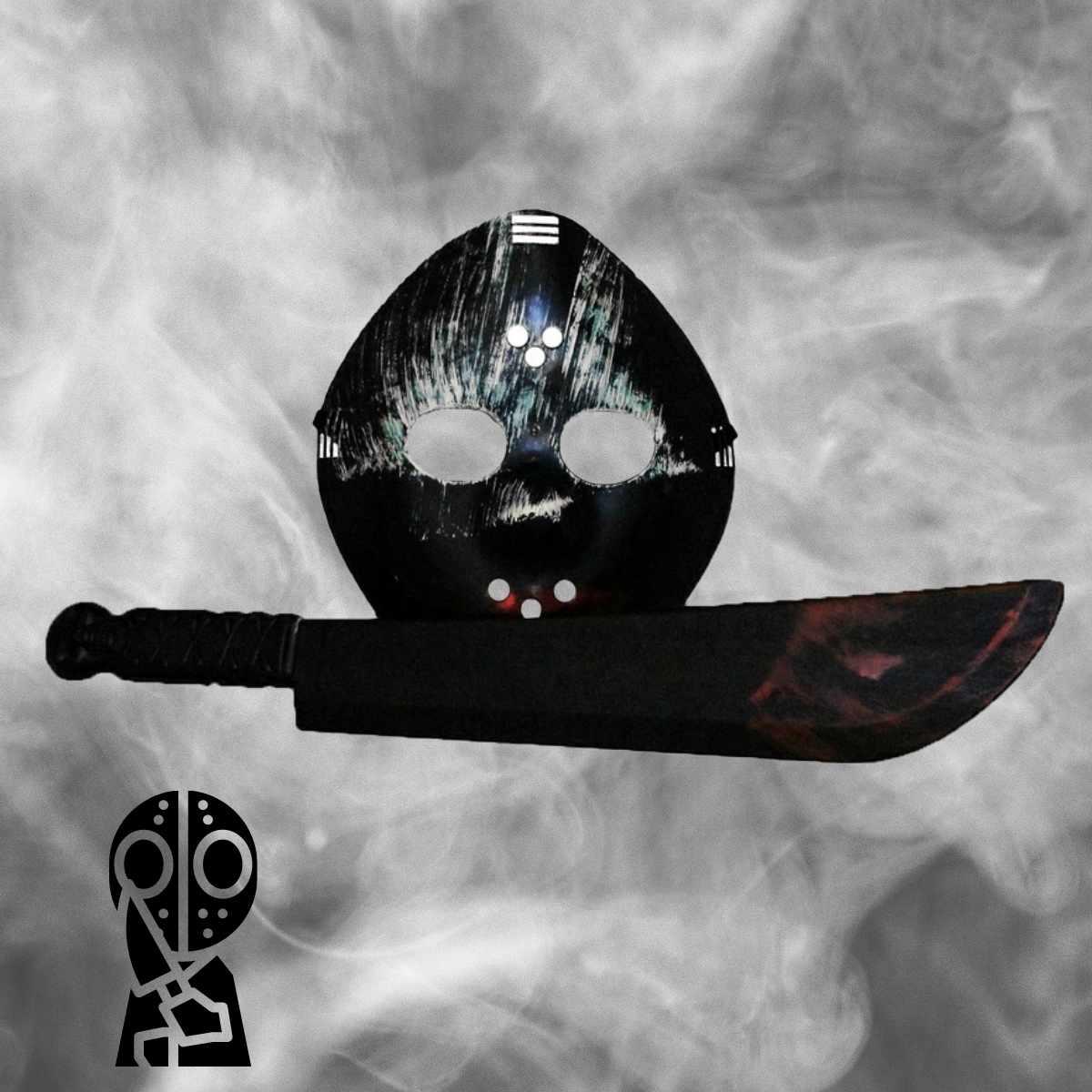 Kit Jason Acessórios (Máscara e Facão)