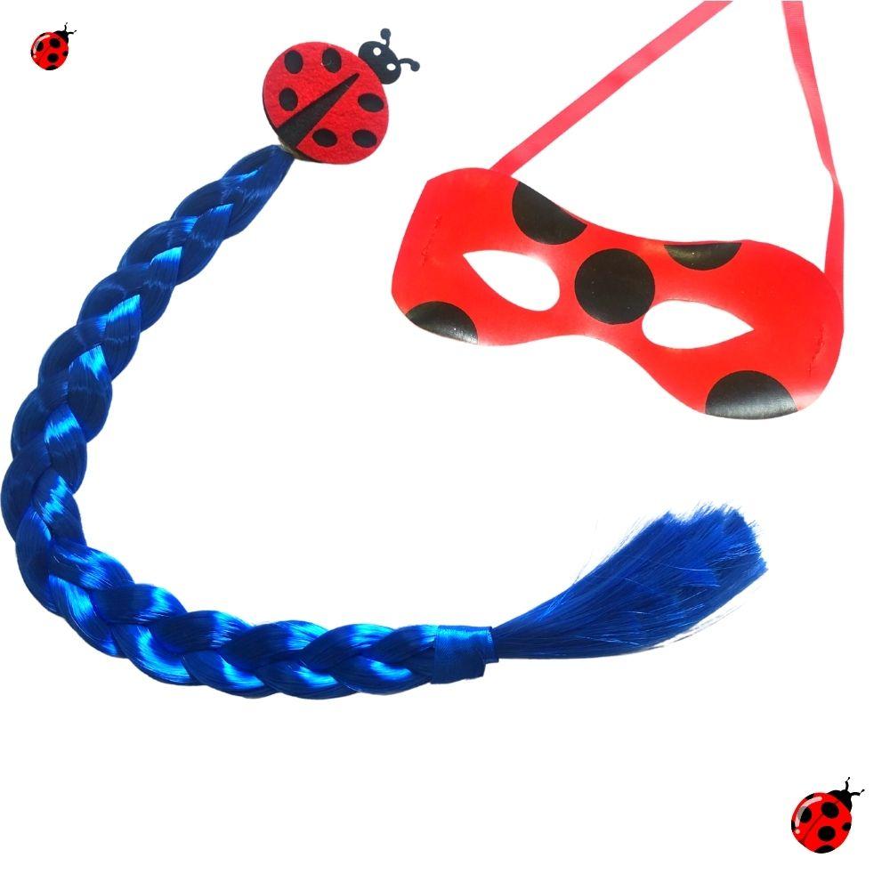 Kit Ladybug (Trança e Máscara)