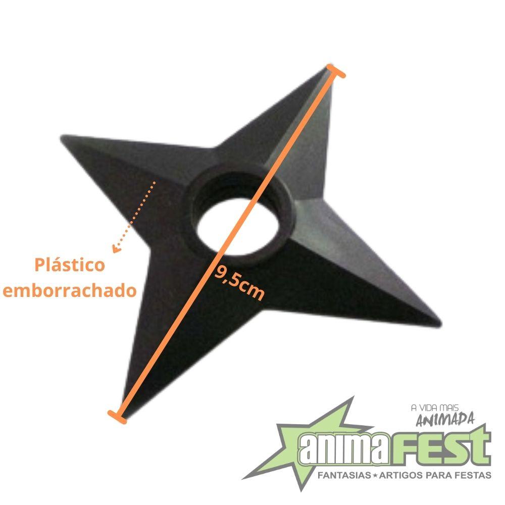 Kit Manto Naruto Akatsuki c/ Ziper e Faixa-Tam.U + Kit Naruto Kunai com Shuriken Plástico