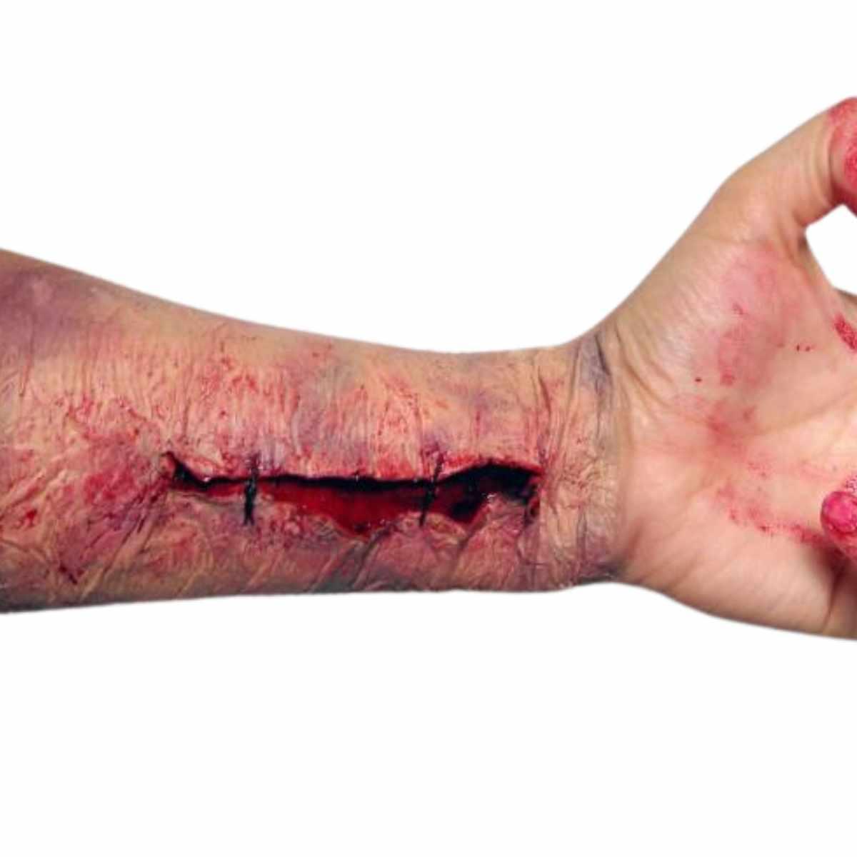 Kit Maquiagem Terror Profissional (Massa Mágica + Queimadura Artística + Sangue Falso)