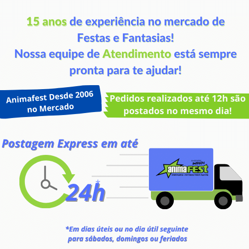 Kit Palhaço Completo Especial c/7 Itens