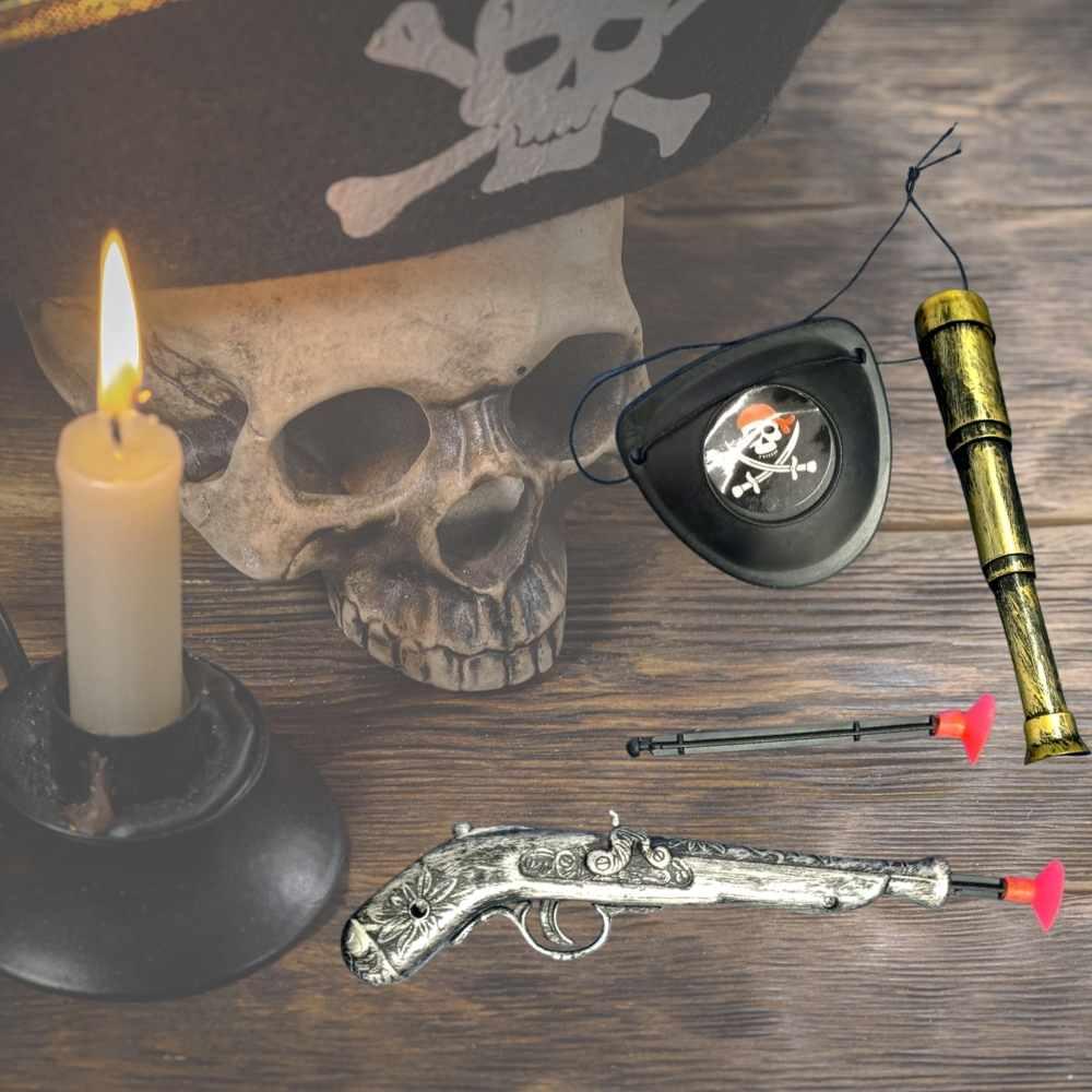 Kit Pirata (Pistola+Tapa Olho+Luneta)