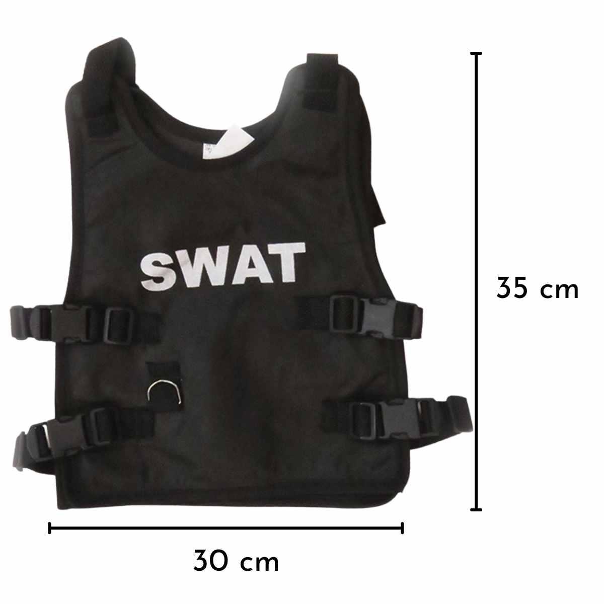 Kit Policial Infantil (Colete Infantil  + Cassetete + Algema)