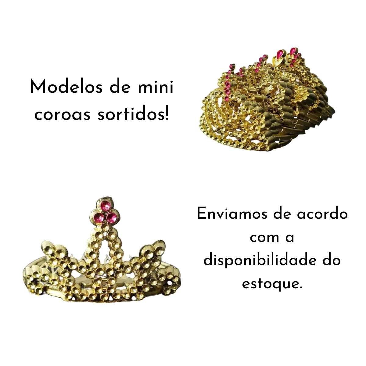 Kit Princesa Dourada (Varinha dourada + Mini Tiara Dourada)