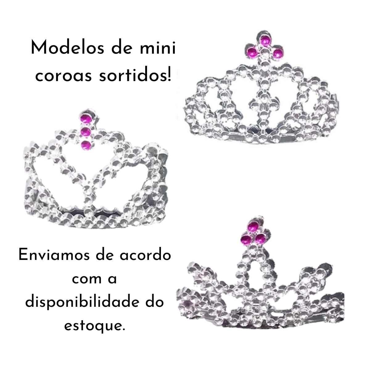Kit Princesa Prata (Varinha Prata + Mini Tiara Prata)