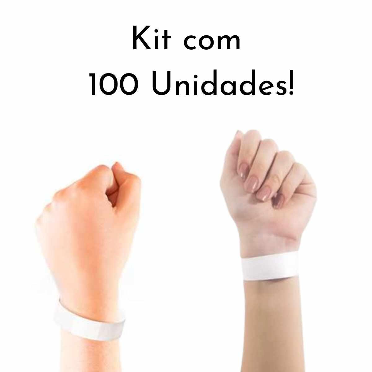 Kit Pulseira de Identificação c/100 - Branco
