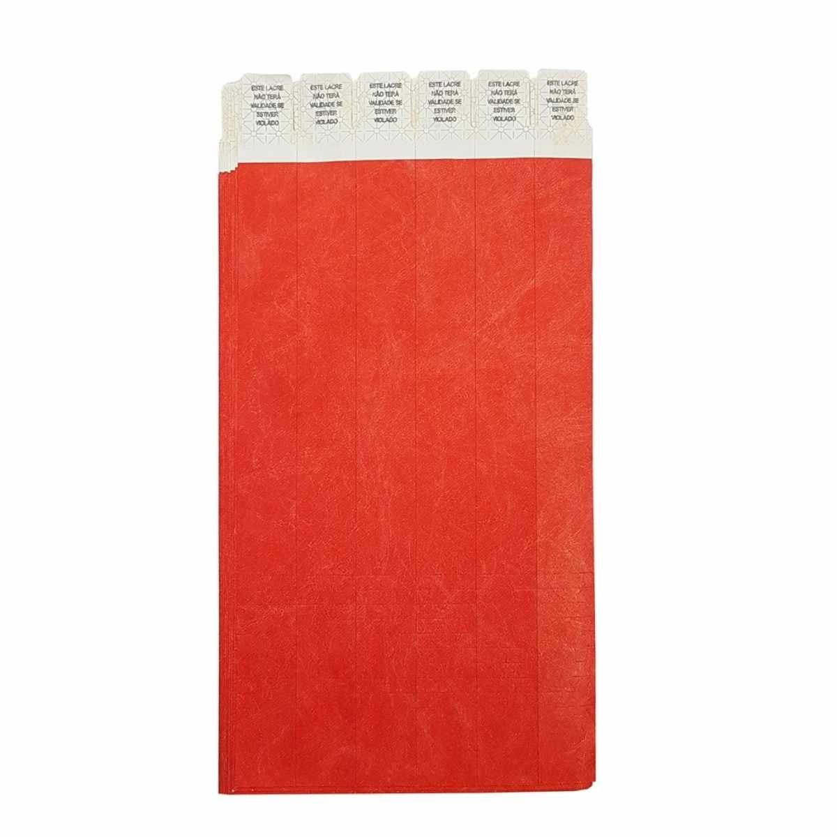 Kit Pulseira de Identificação c/100 - Vermelho