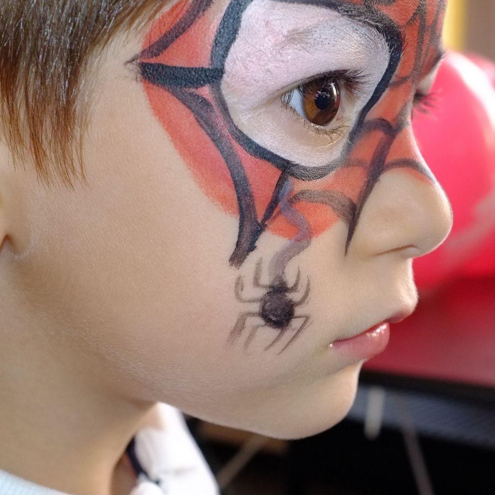 Kit Tinta Facial com 6 Cores 15ml,1 Glitter pó e 1 Pincel