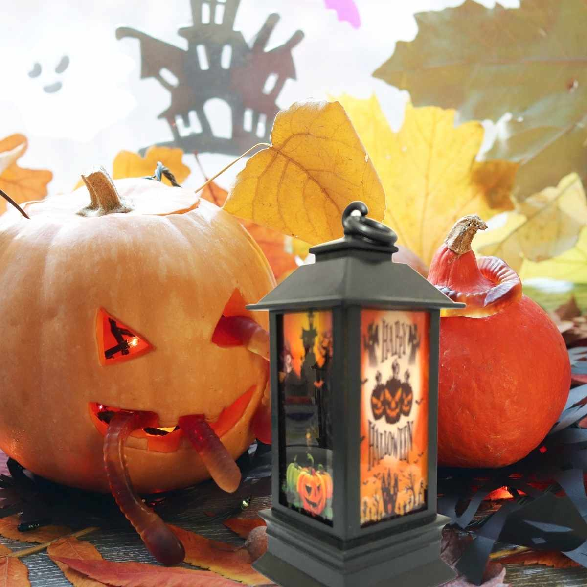 Lampião Halloween c/ Luz 10cm
