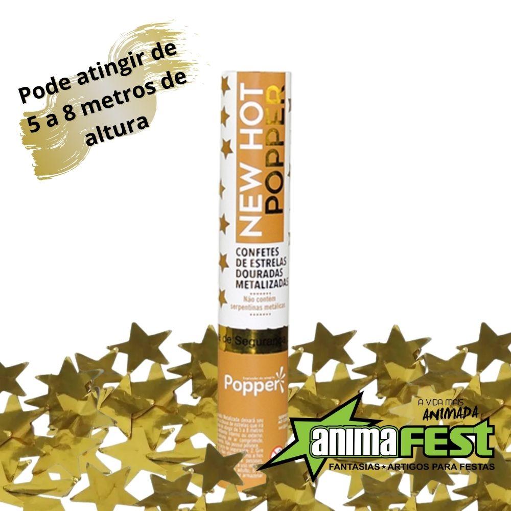Lança Confete Chuva de Estrelas Ouro 30 cm Ref. 8230-GS