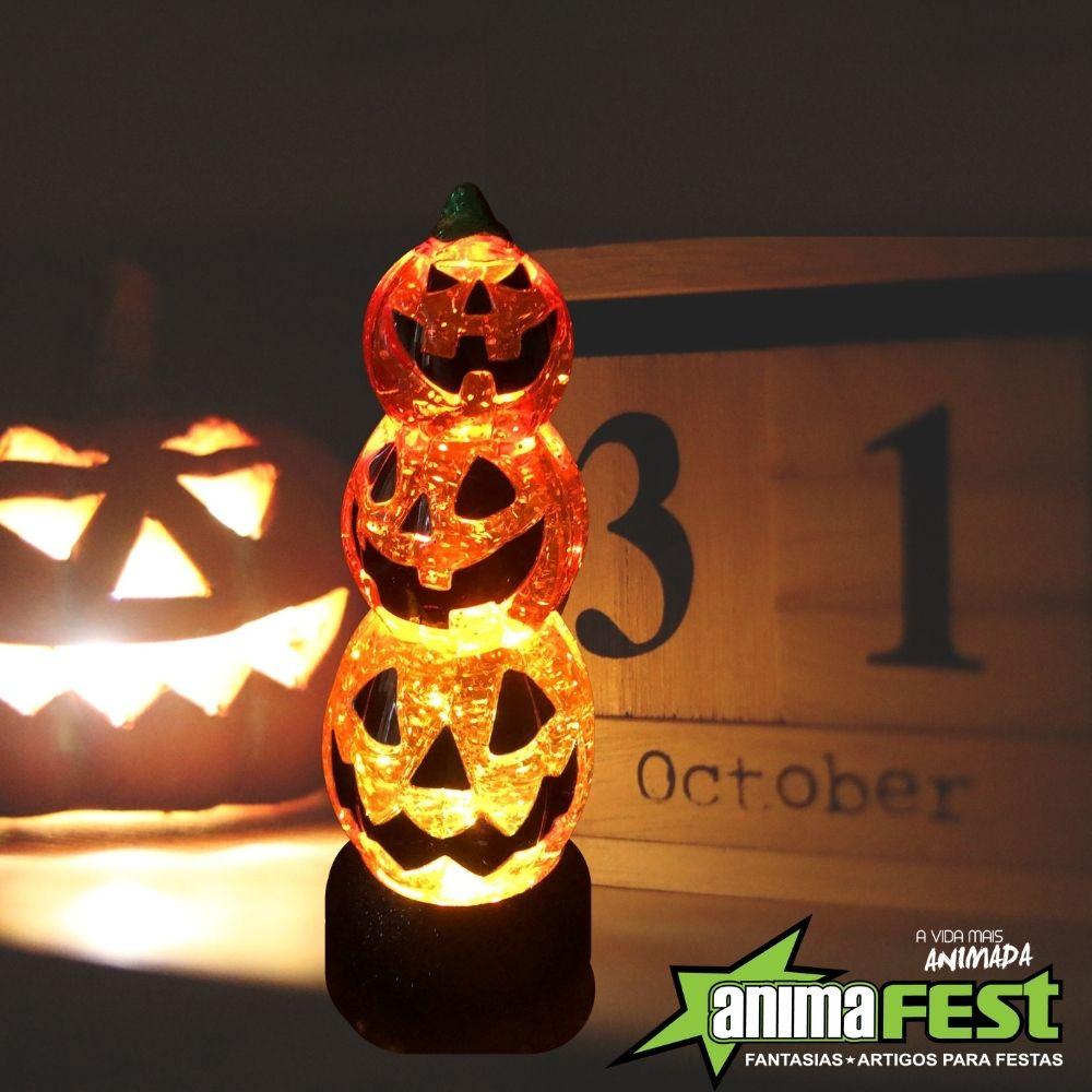 Luminária 3 Globos Halloween 25cm