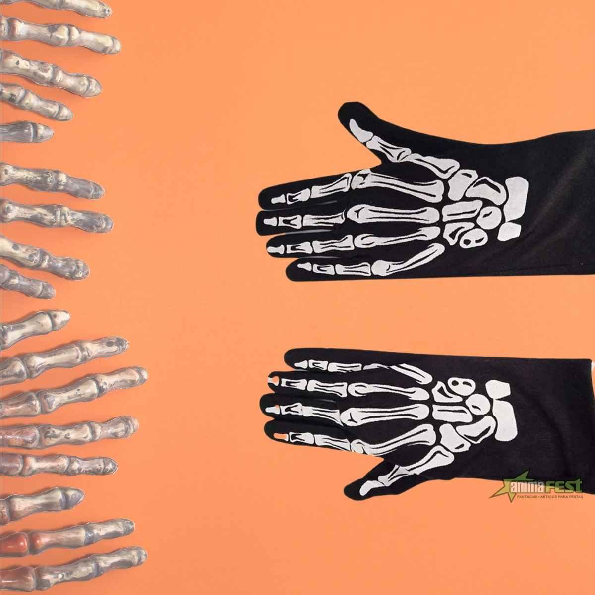 Luva Mão de Esqueleto