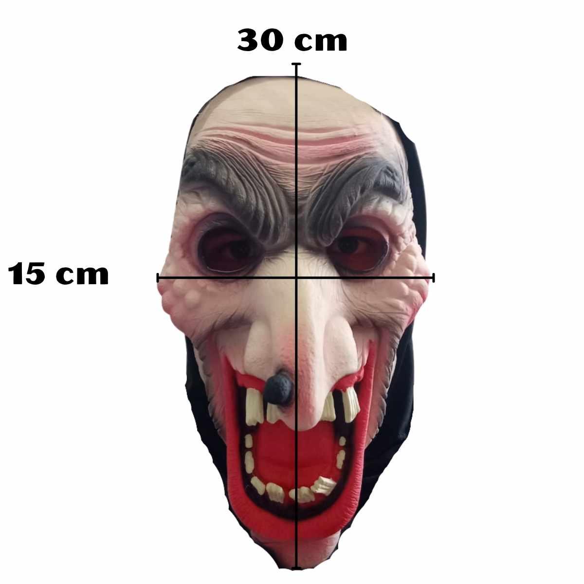 Máscara Bruxa Látex com Capuz