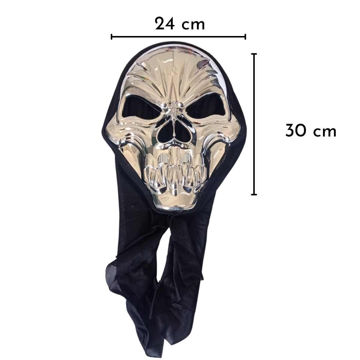 Máscara Caveira Esqueleto c/ Capuz