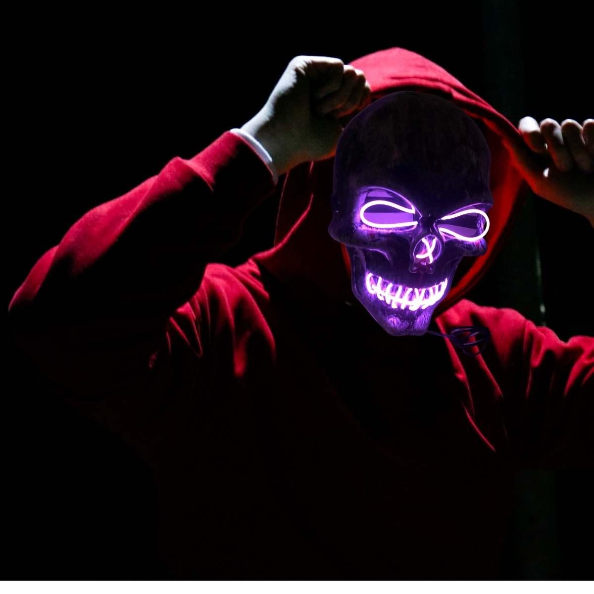 Máscara Caveira Led Halloween