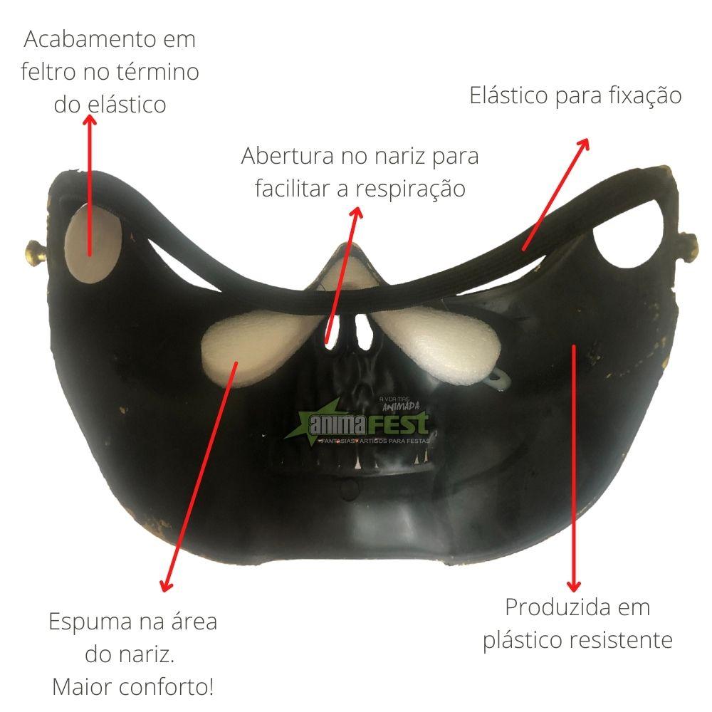 Máscara Caveira Meio Rosto